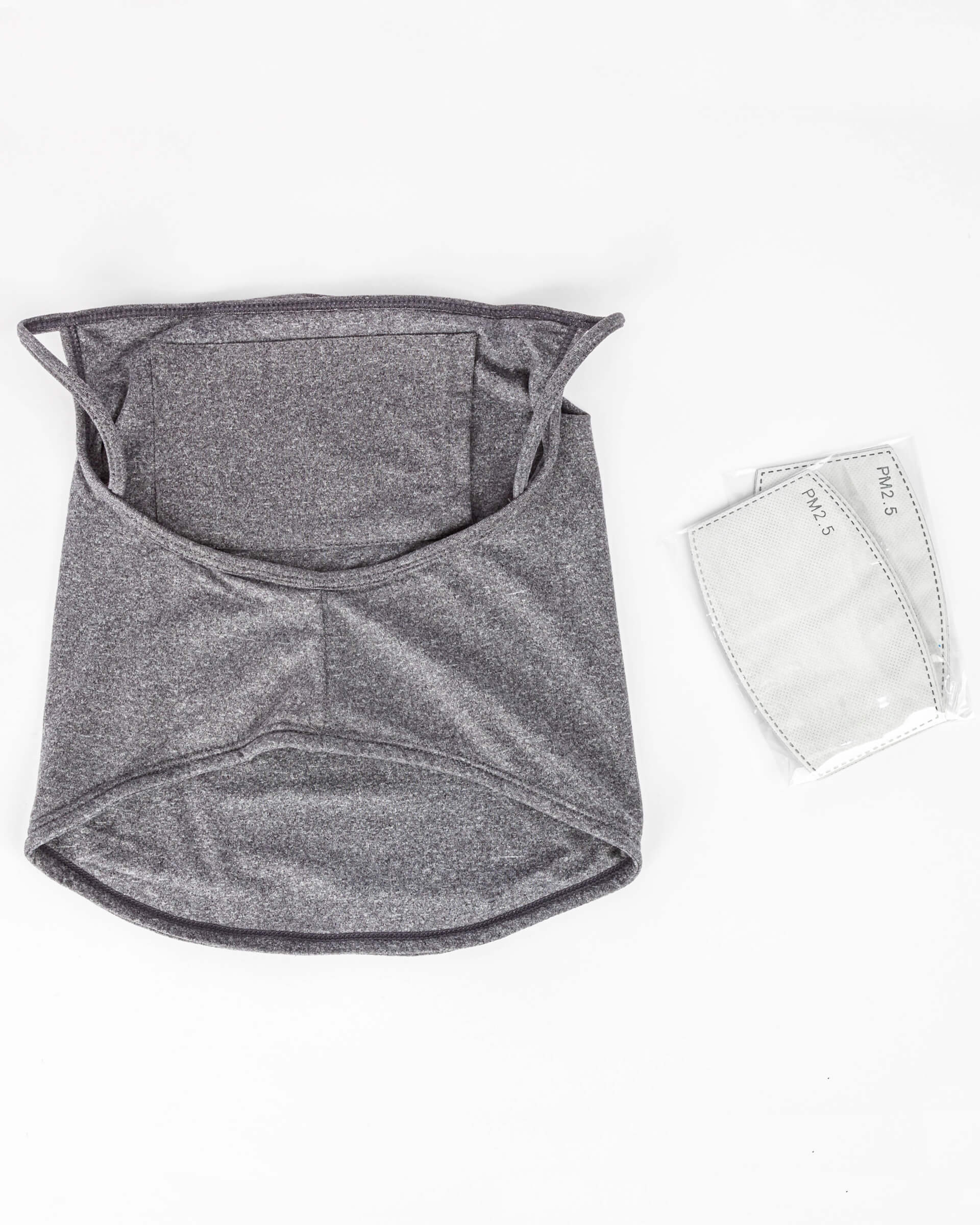 Men's Protective Face Mask Gaiter w/ Filter Pocket - 2PC Set