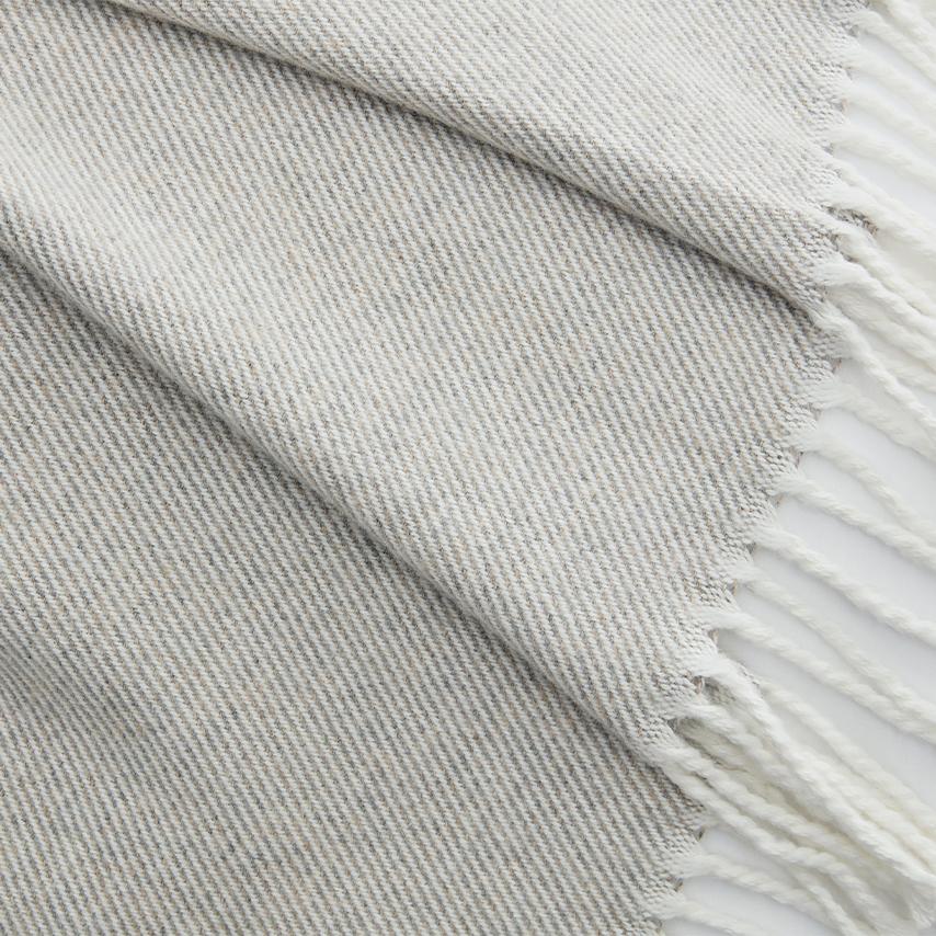 Heathered Twill Oversized Throw Blanket