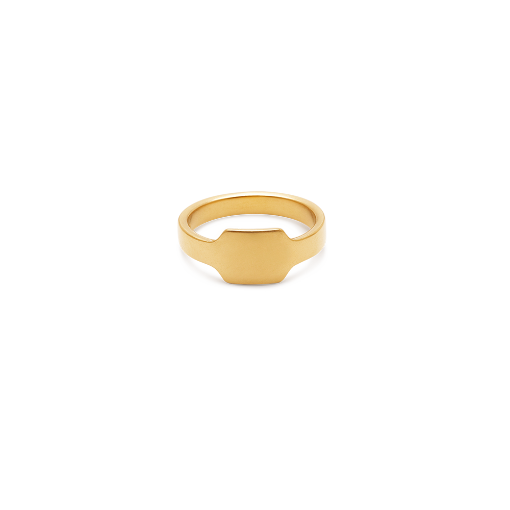 Cigar Signet Ring — engravable area