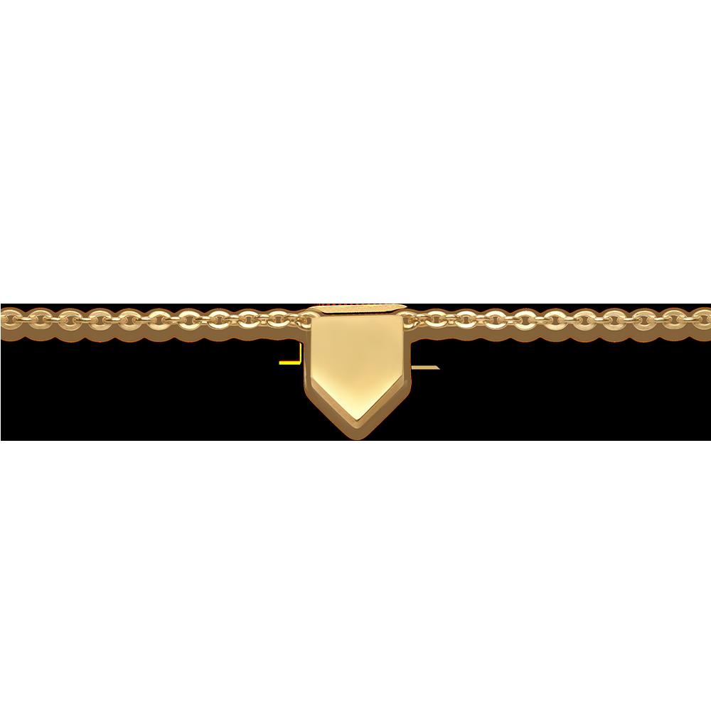 Mini Shield Necklace — engravable area