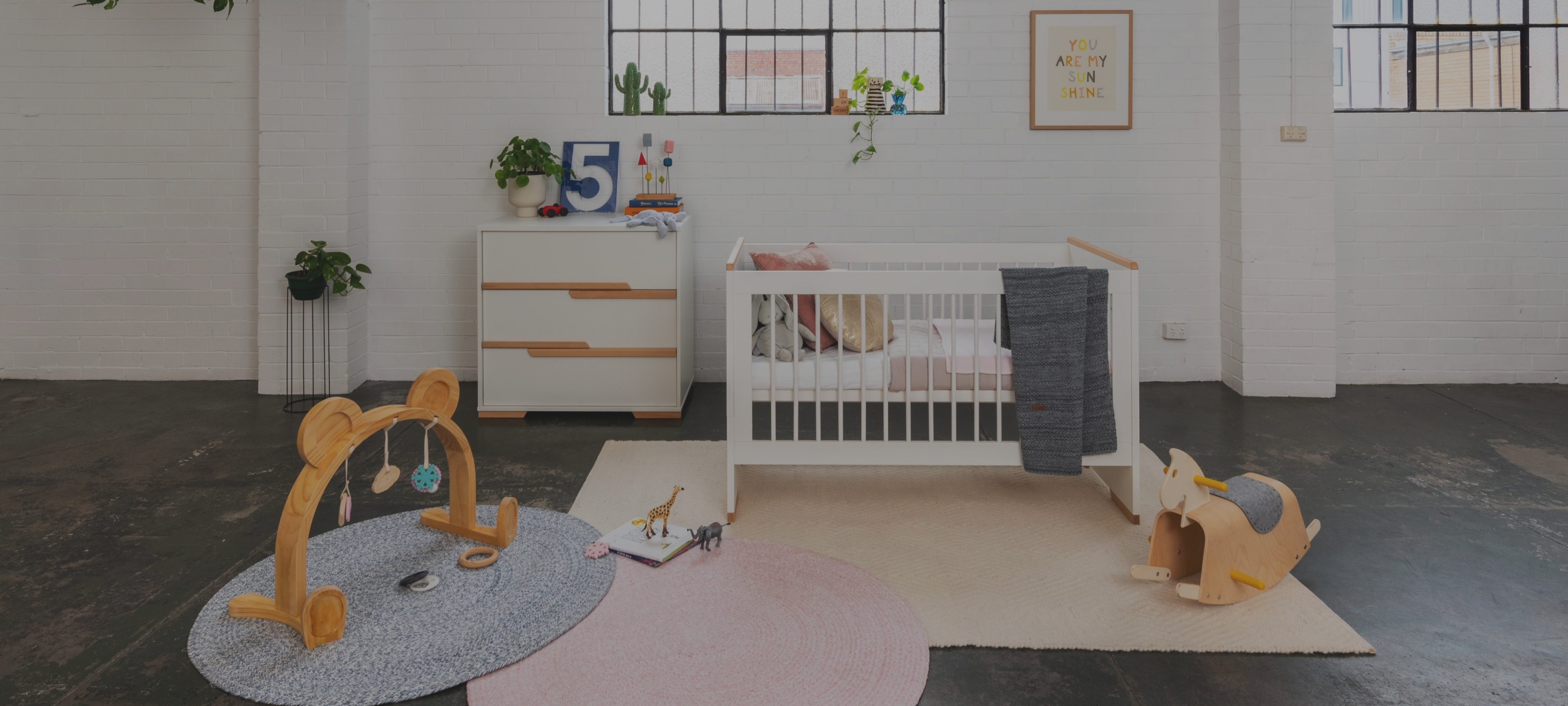 Poppy Nursery Package - Cot & Chest