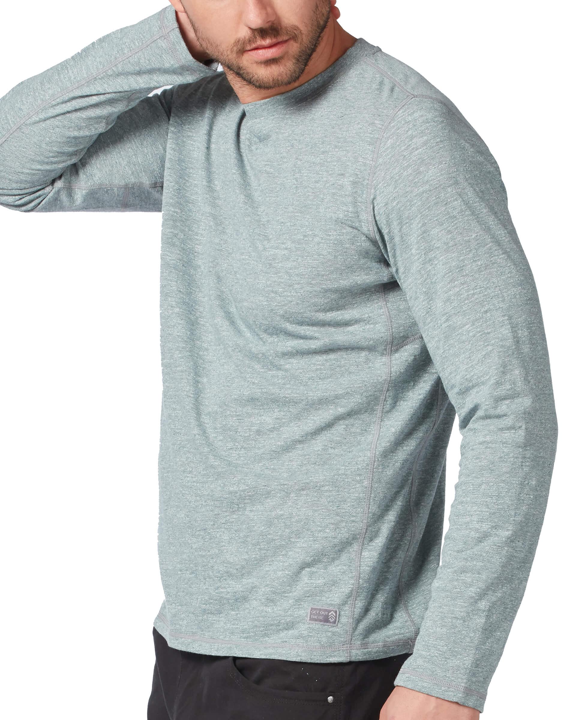 Men's Tech Textured Long Sleeve Tee