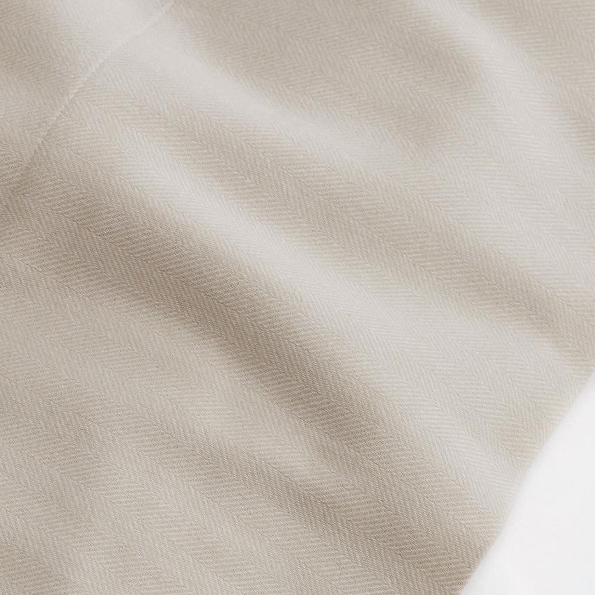Flannel Herringbone Pillowcase Set