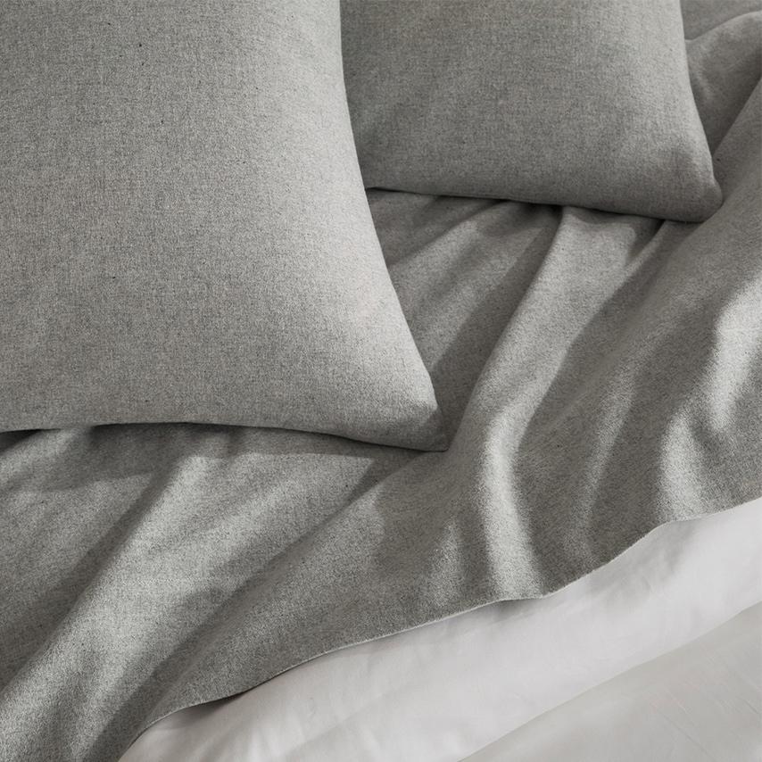 Flannel Heathered Pillowcase Set