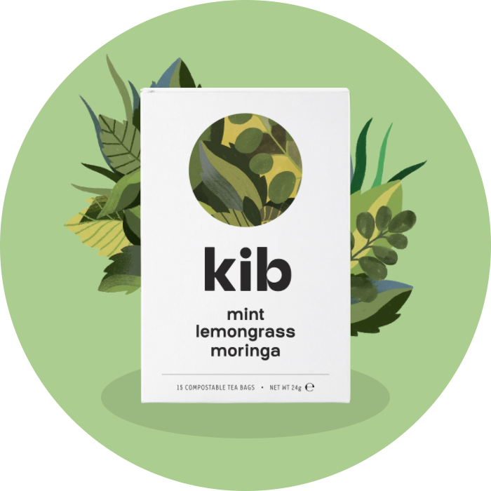 mint, lemongrass, moringa