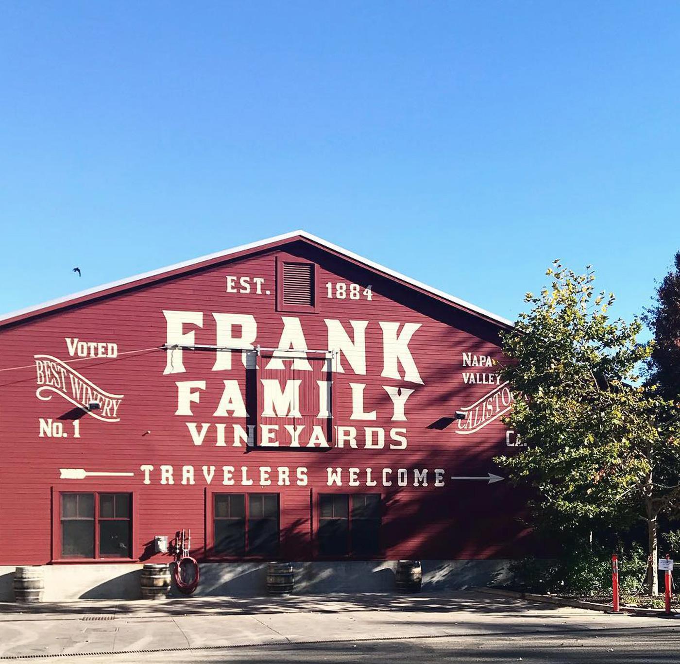 Frank Family Vineyards, Napa Valley.