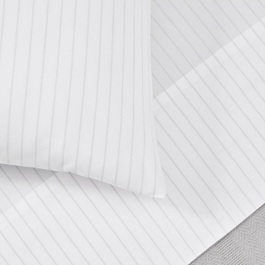 Percale Simple Stripe Pillowcase Set