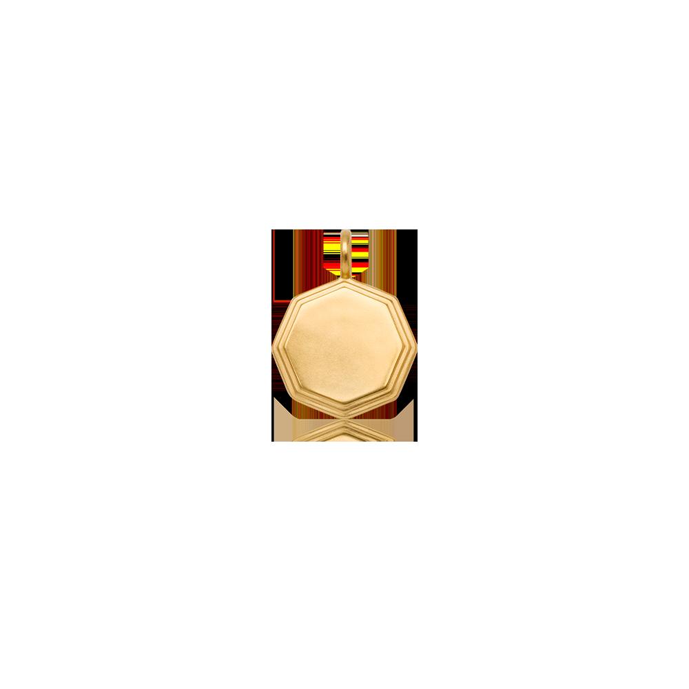Double-Step Medallion Necklace — engravable area