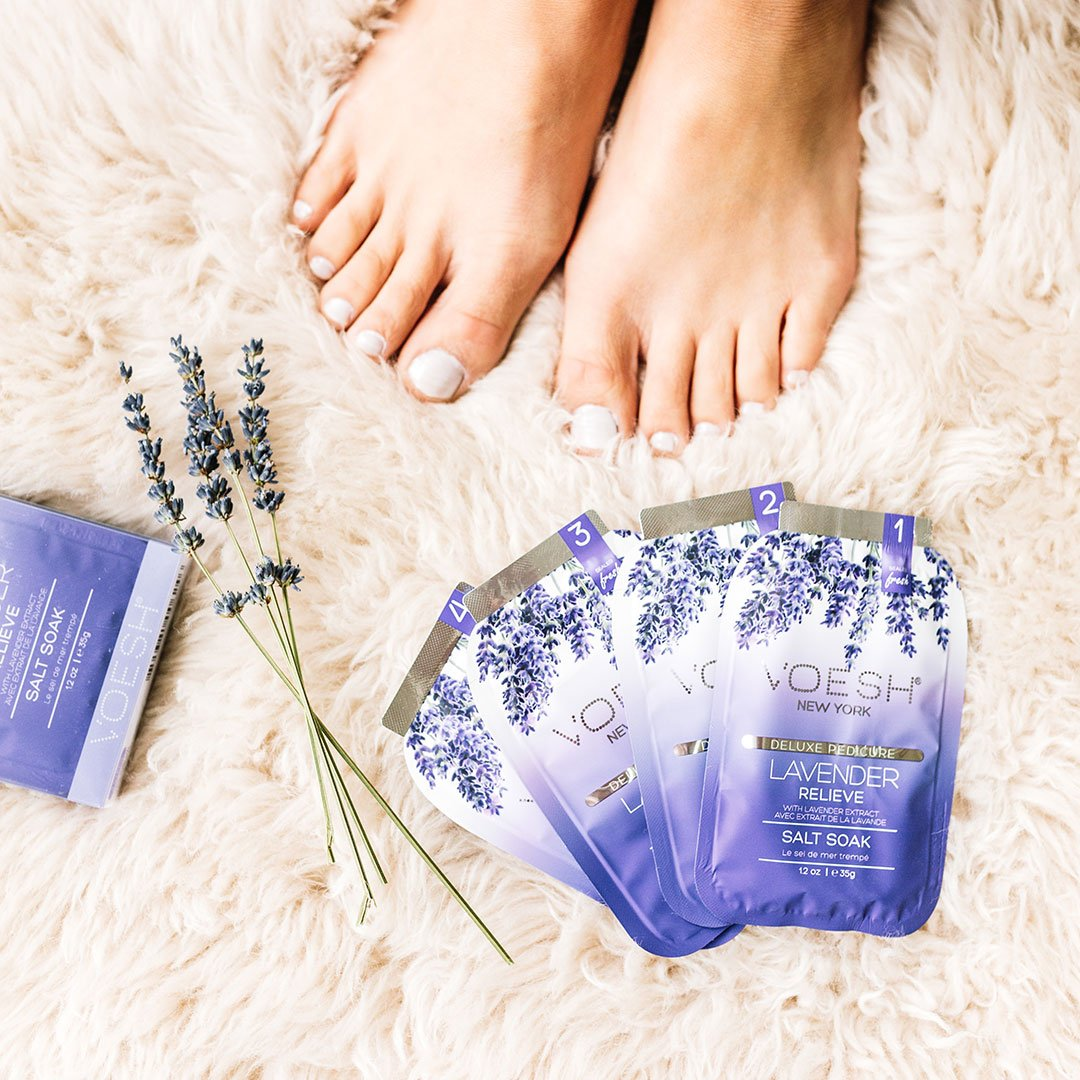 Lavender Relieve Pedi in a Box 4 Step