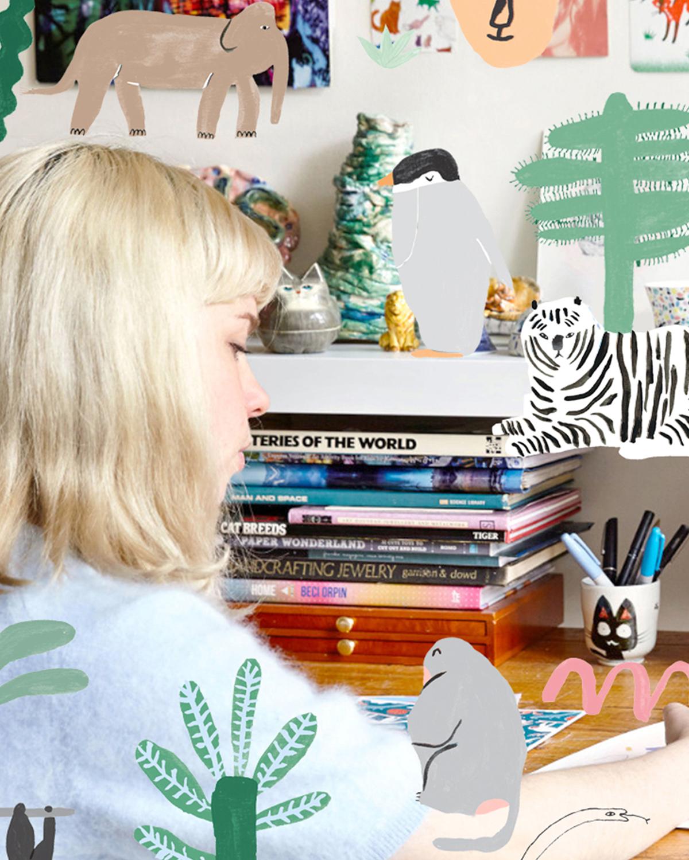 2019, Penny Ferguson (Min Pin) in her studio.