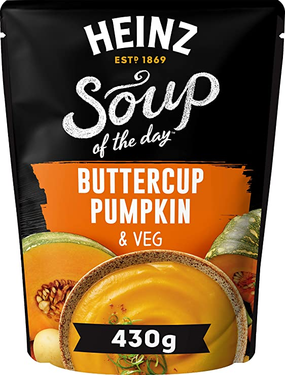 Photograph of 1 x 430g Heinz® Soup of the Day® Buttercup Pumpkin & Veg product
