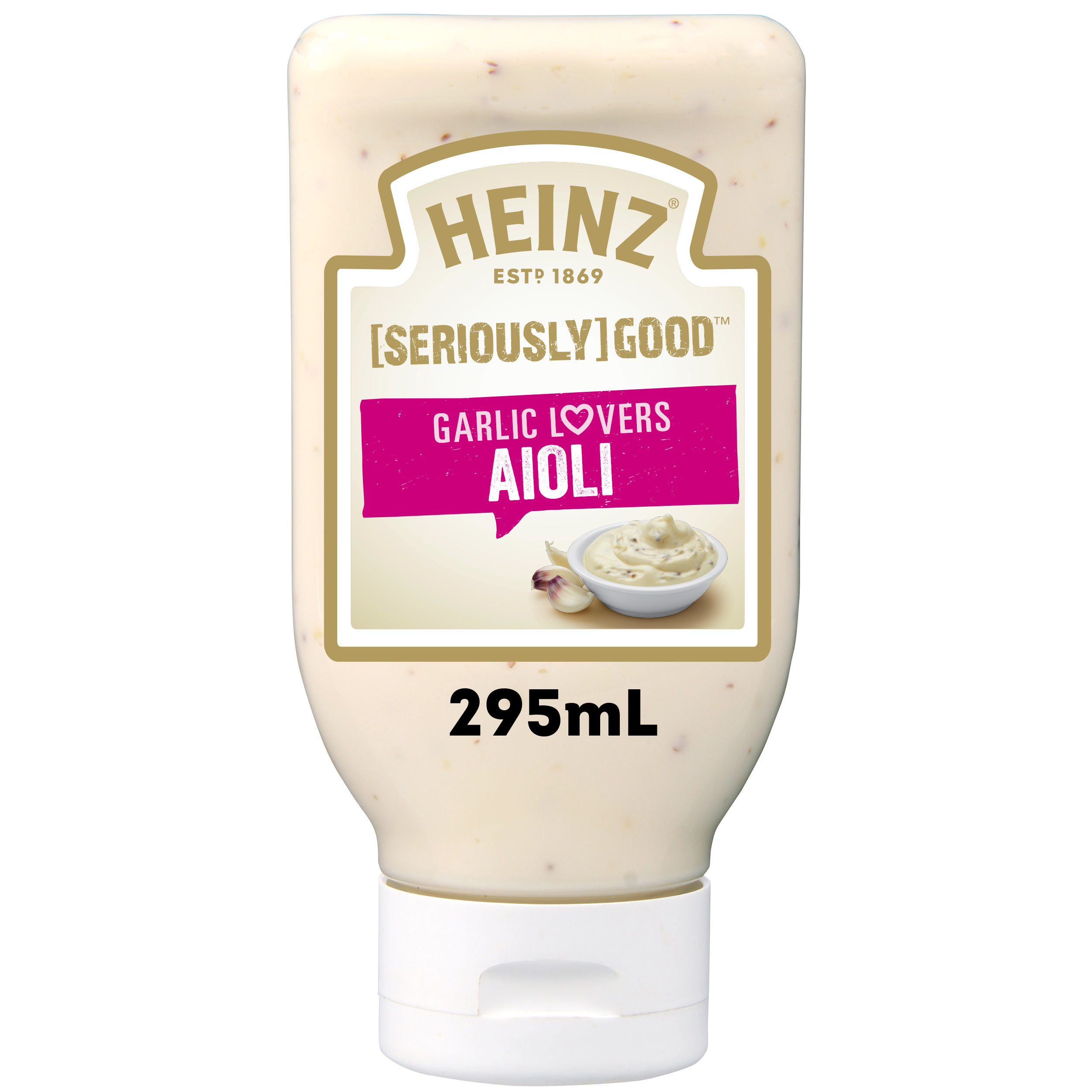 Photograph of 1 x 295mL Heinz® Seriously Good Garlic Lovers Aioli product