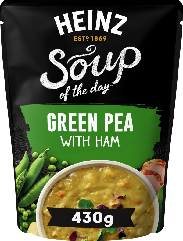 Photograph of 1 x 430g Heinz® Soup of the Day® Pea and Ham Soup product