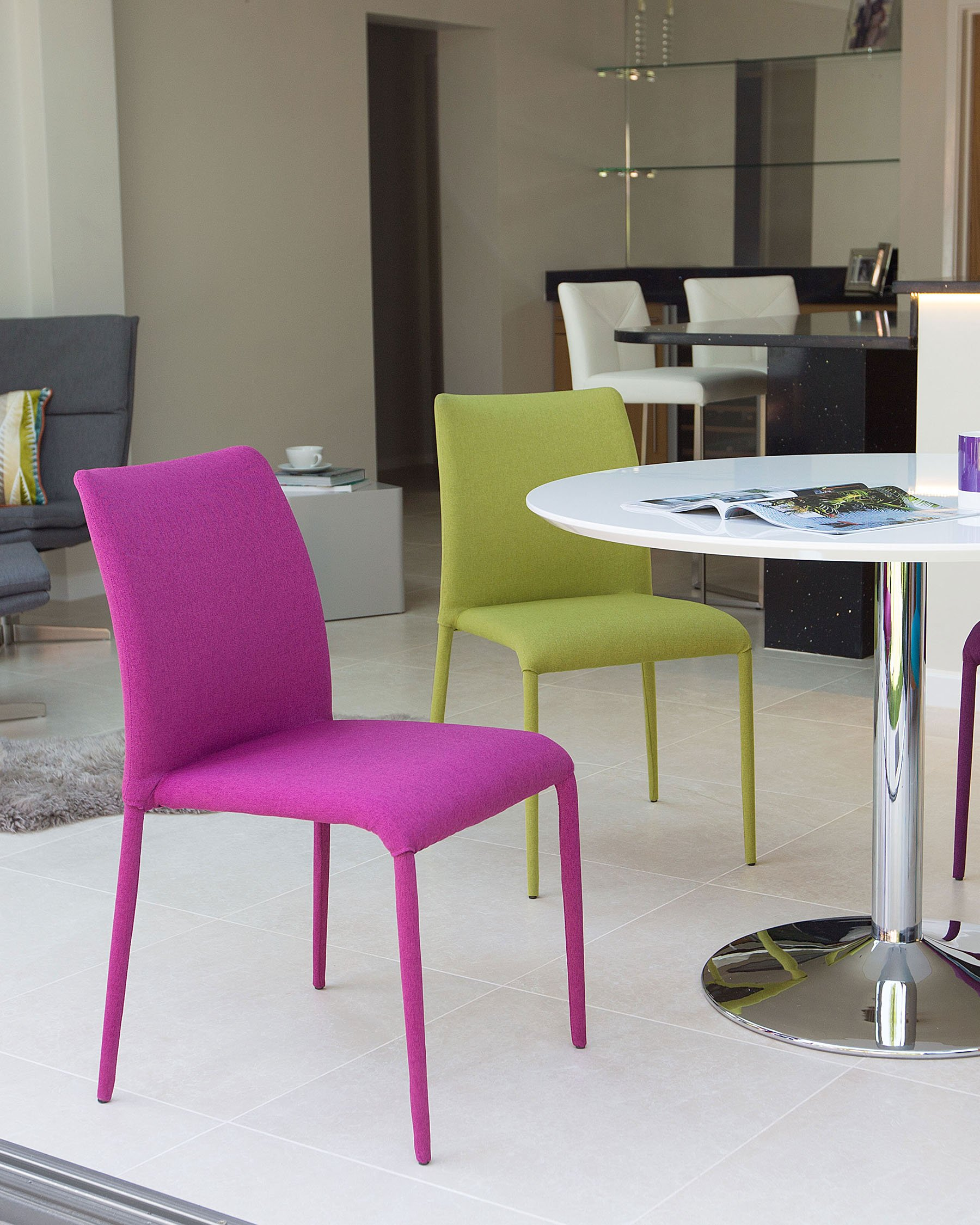 Stackable Dining Chairs Space Saving, Fuchsia Dining Room Chairs