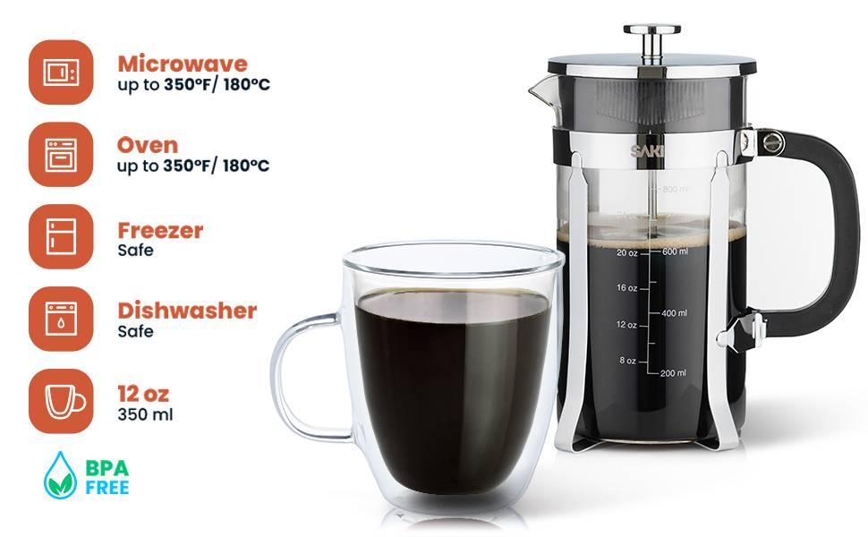 SAKI Double Wall Coffee Mugs