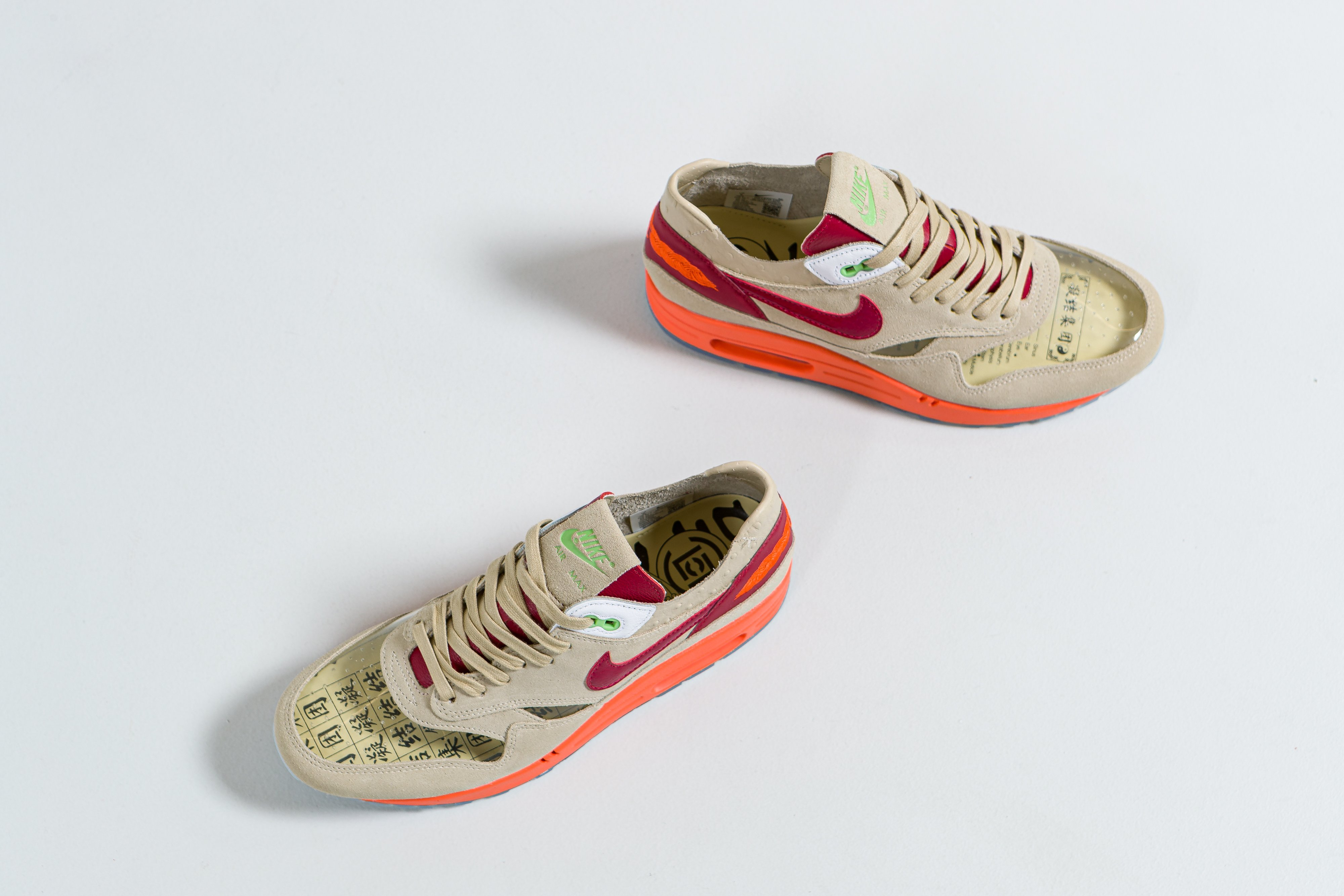 Up There Launches - Air Max 1 x Clot - Net/Deep Red-Orange Blaze 'Kiss Of Death'