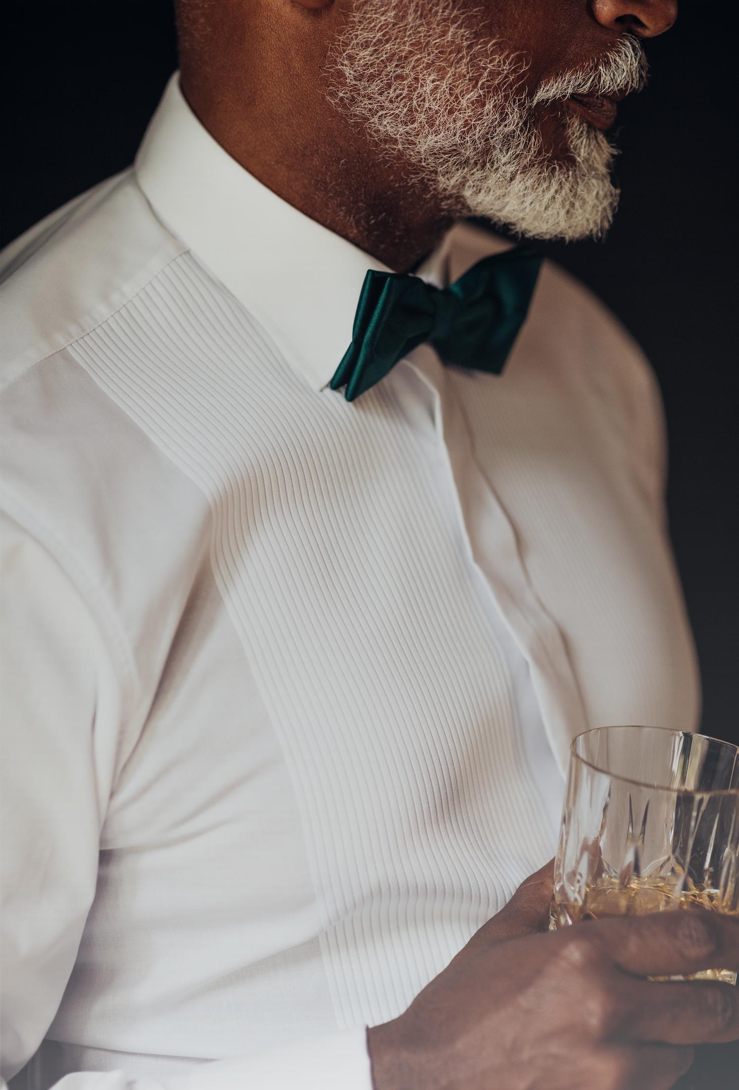 Bottle Green Plain Satin Narrow Bow Tie