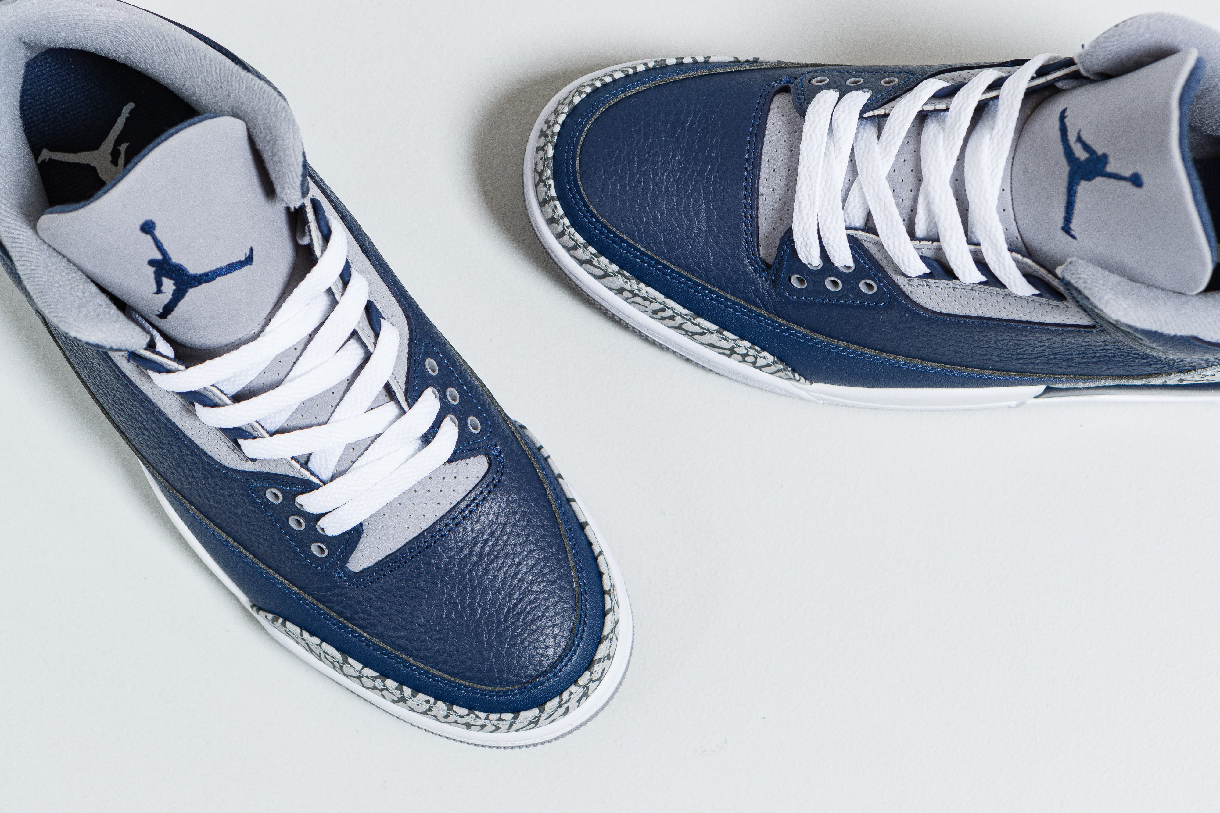 Up There Launches - Nike Air Jordan 3 Retro - Midnight Navy/White-Cement Grey