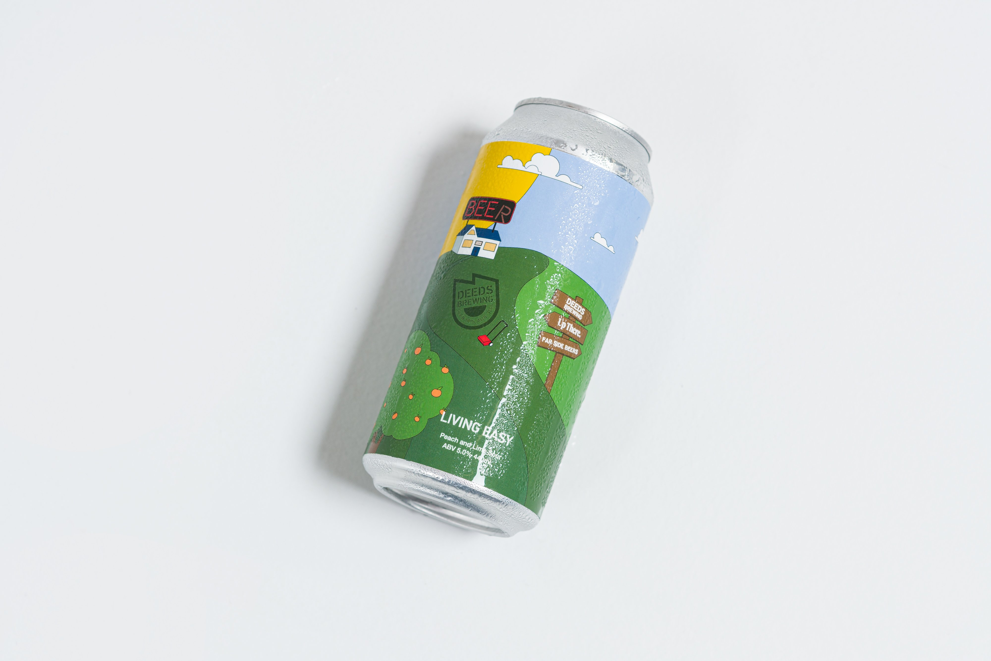 Up There X Far Side Beers X Deeds Brewing - Living Easy Peach & Lime Sour Beer Limited Edition Merch