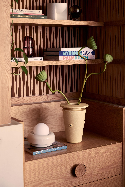 Nelly Table Lamp, BZippy Vessel, Sugarpill Vase, Kuru Bowl + Books
