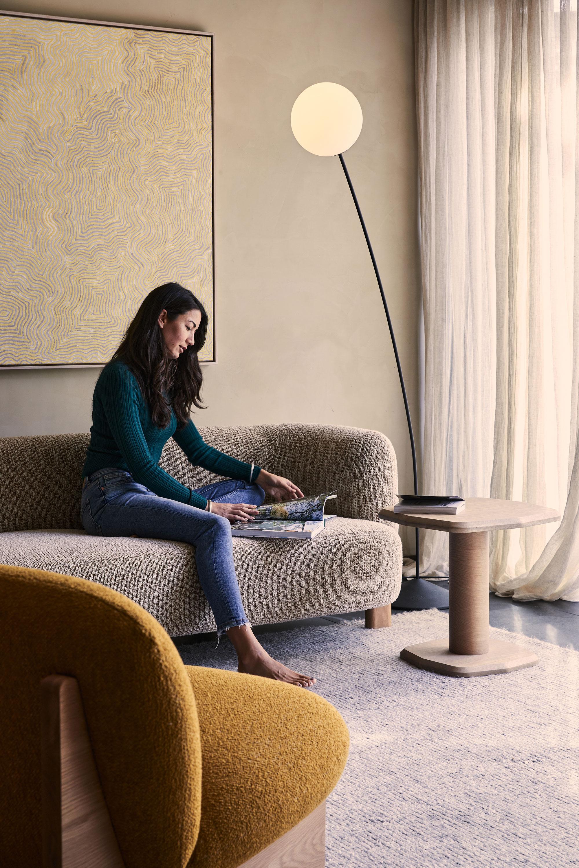 Ziggy Armchair, Lola Sofa, Arte Side Table + Boyd Floor Lamp
