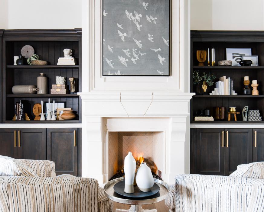 #PartyHouseProj Living room fireplace