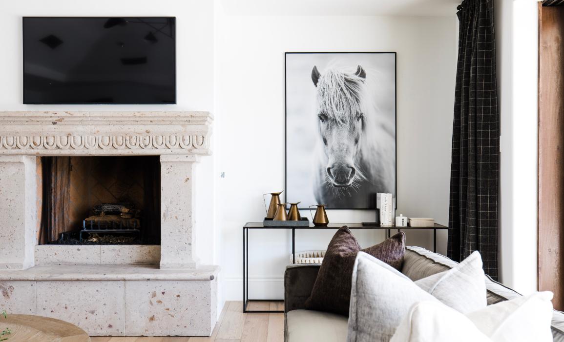 #MaverickDrProj Living Room Fireplace