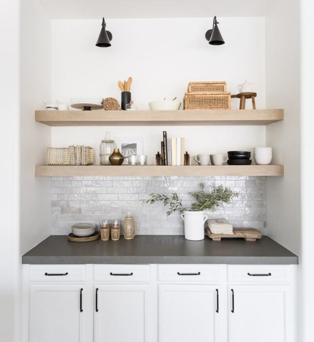#NolanDrProj Styled Kitchen Shelves