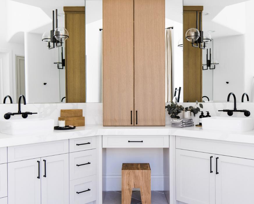 #TheGreatLakeProj Bathroom Counter and Cabinets