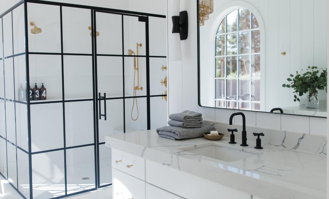 #DarlingAbodeProj Bathroom Counter and Shower