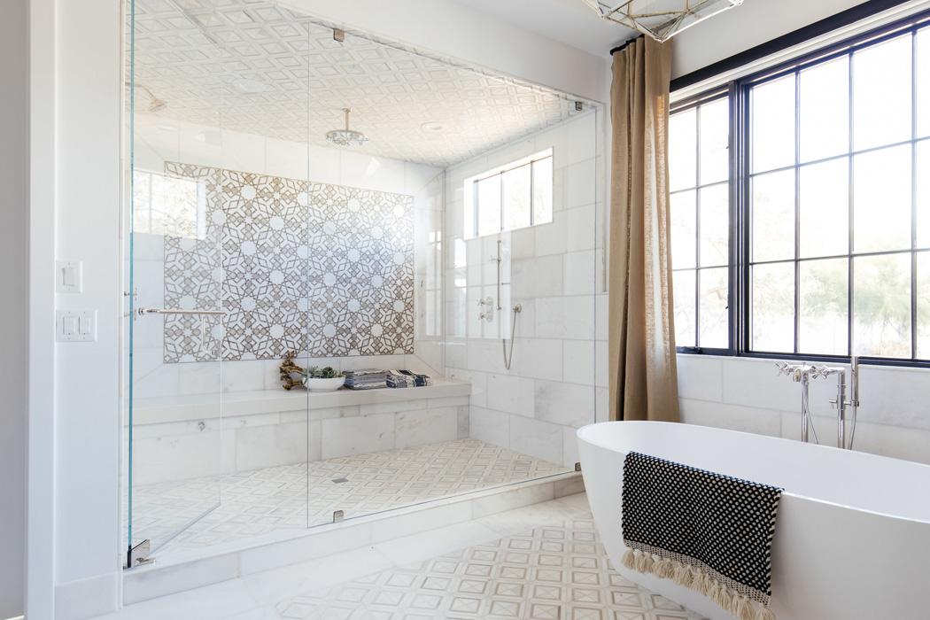 The LifestyledCo #SapphirePVProj Primary Bathroom