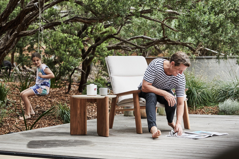Otis Outdoor Side Table, Cisco & the Sun Pasca Teapot + Henry Armchair