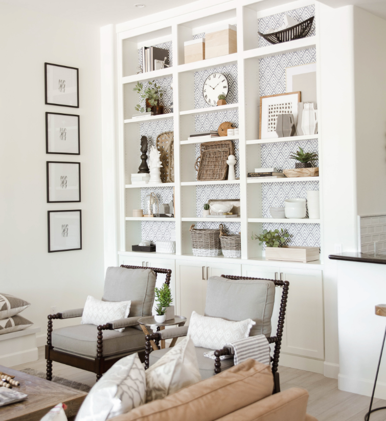 #79thWayProj Living Room Shelf Styling