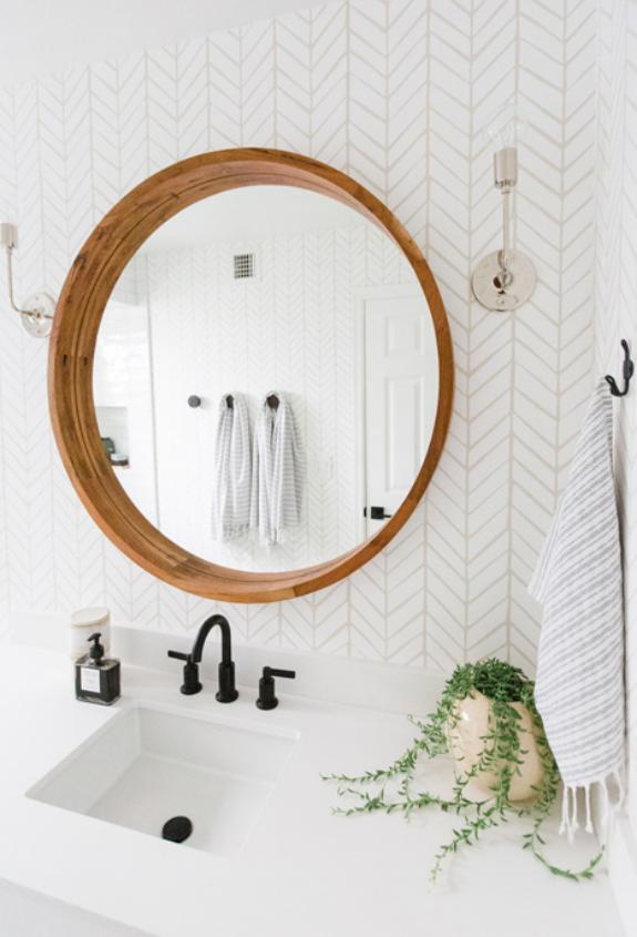 #VenturaLaneProj Bathroom Mirror and Sink