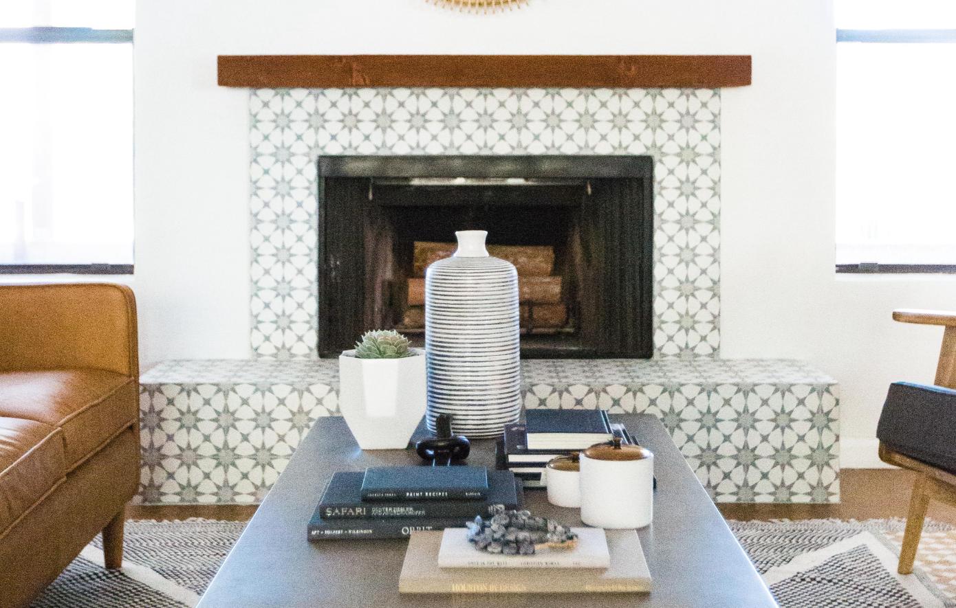 #8thStProj Styled Fireplace