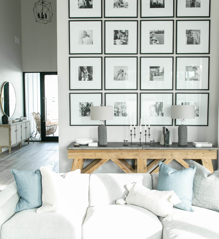 #BrieBellaProject Living Room Gallery Wall