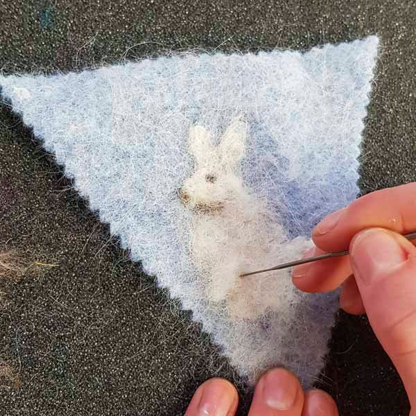 Needle Felting Bunting in how to make felt bunting by Judi Glover Art