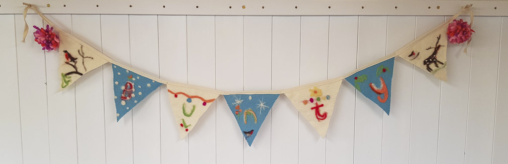 Bunting for a friend by Judi Glover Art