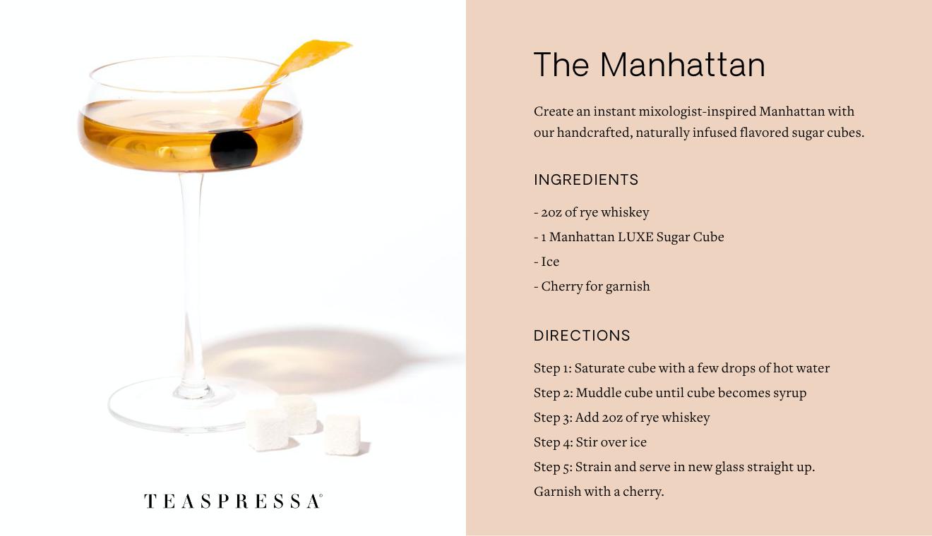 Teaspressa Recipe card - Manhattan