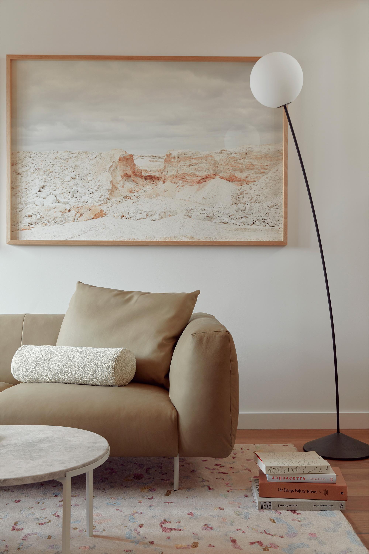 Alice Coffee Table, Miller Modular, Elk Bolster, Leo Rug + Boyd Floor Lamp