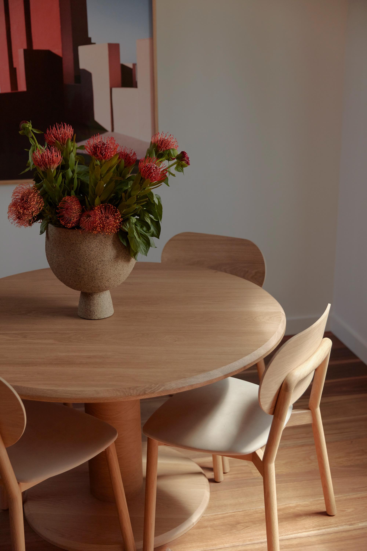 Mckenzie Chair, Arte Dining Table + Natural Raku Vessel