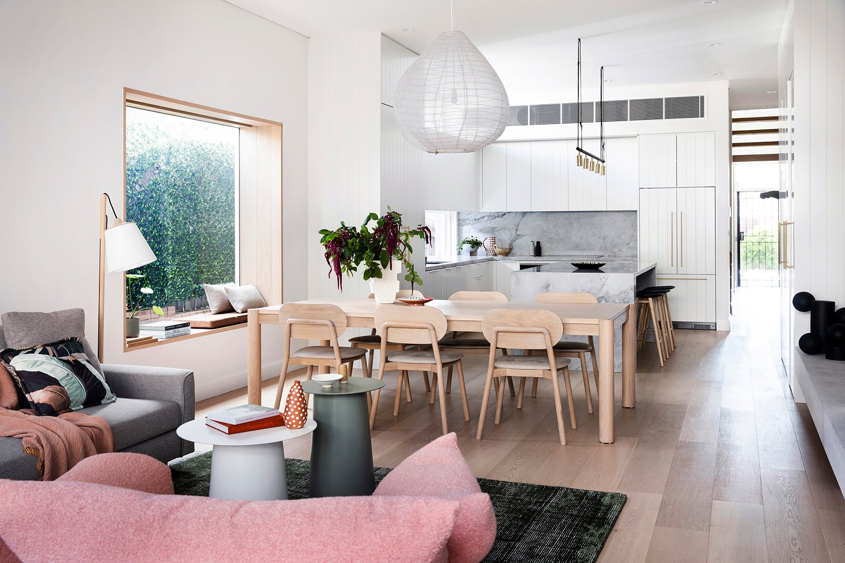 Wilfred Armchair, Huxley Dining Table & McKenzie Dining Chairs