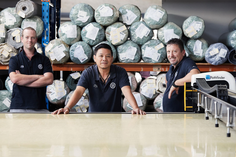 Glenn, Trung, Pat — Cutting
