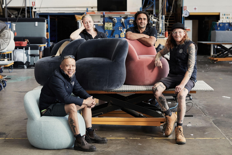 James, Nicola, Billy, Hugh — Upholstery