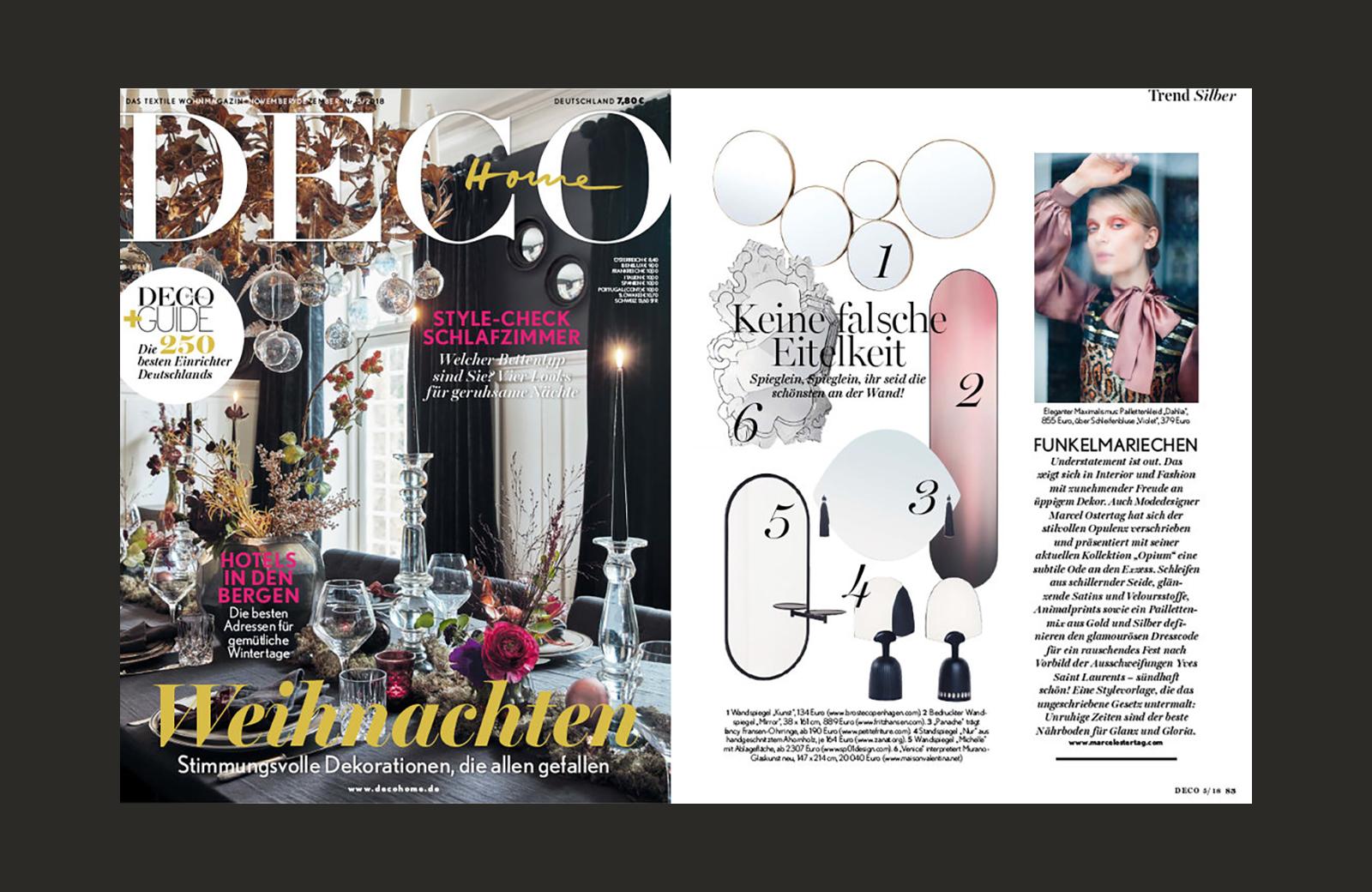 SP01 Michelle Mirror featured in Deco Home (Denmark), November 2018