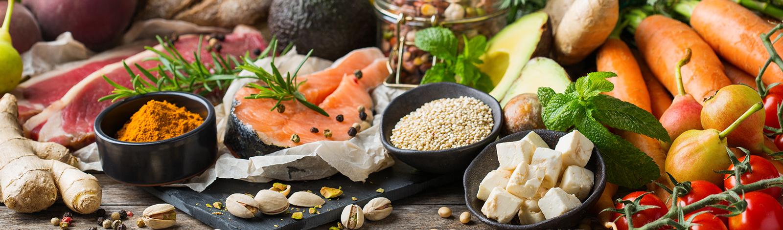 Healthy food for balanced flexitarian diet