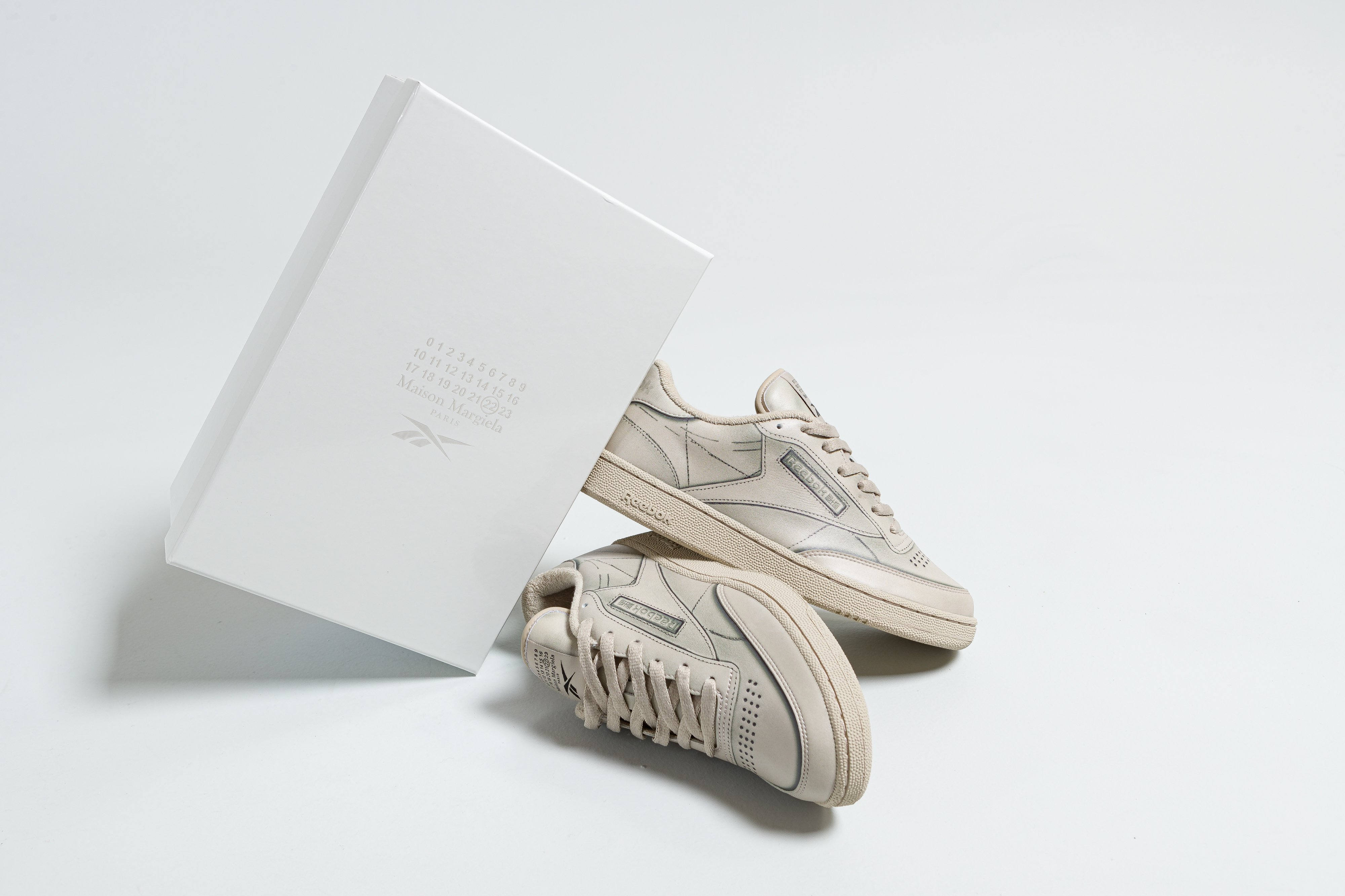 Up There Store - Reebok Classics X Maison Martin Margiela Project 0 Club C 'Natural'