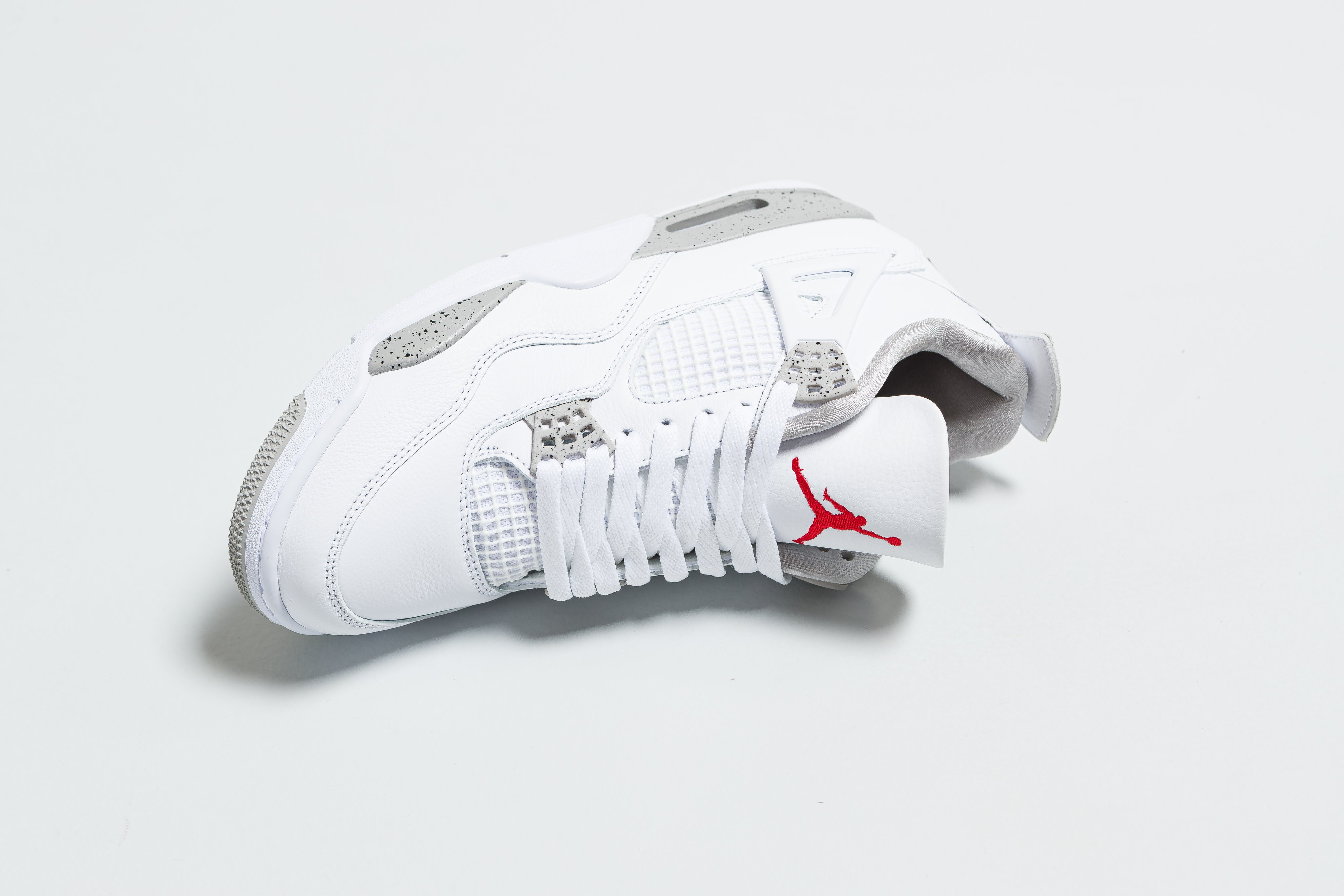 Up There Launches - Air Jordan 4 Retro - White/Tech Grey-Black-Fire Red 'Reverse Oreo'
