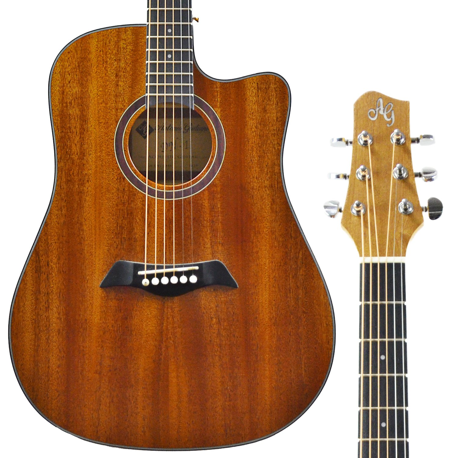 CLEARANCE Antonio Giuliani DN-1 Dreadnought Cutaway Acoustic Guitar in action