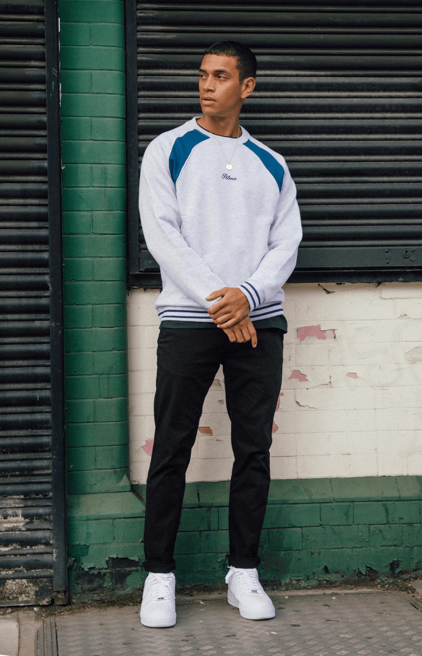 Grey Carmo Panel Sweatshirt
